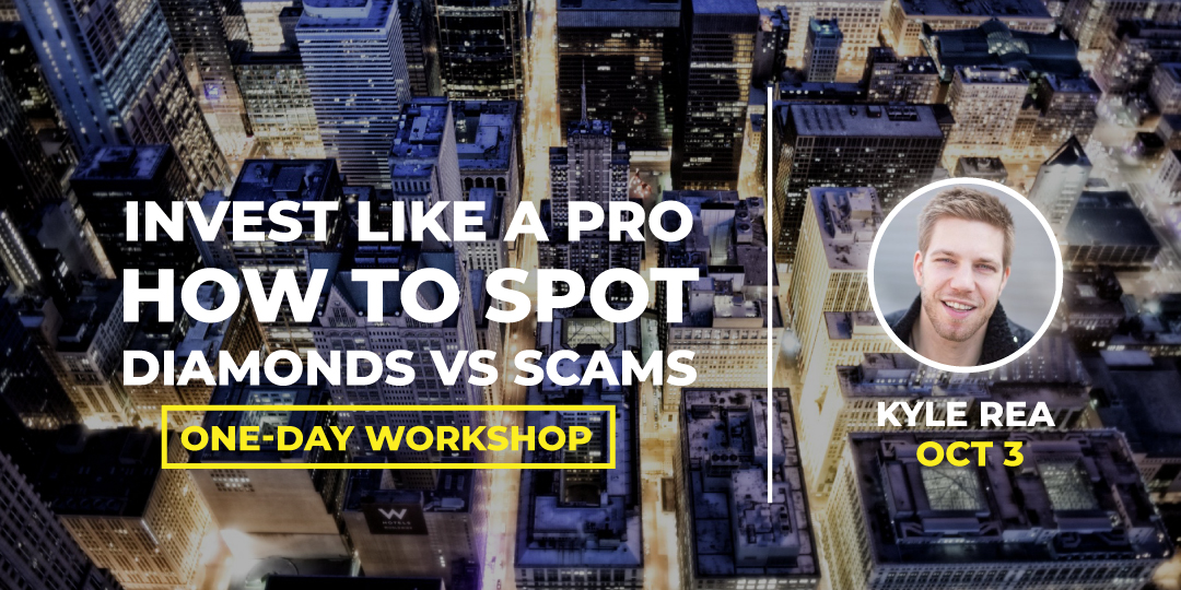 Workshop #BLOCKCON Invest Like A PRO - How to spot Diamonds vs Scams!