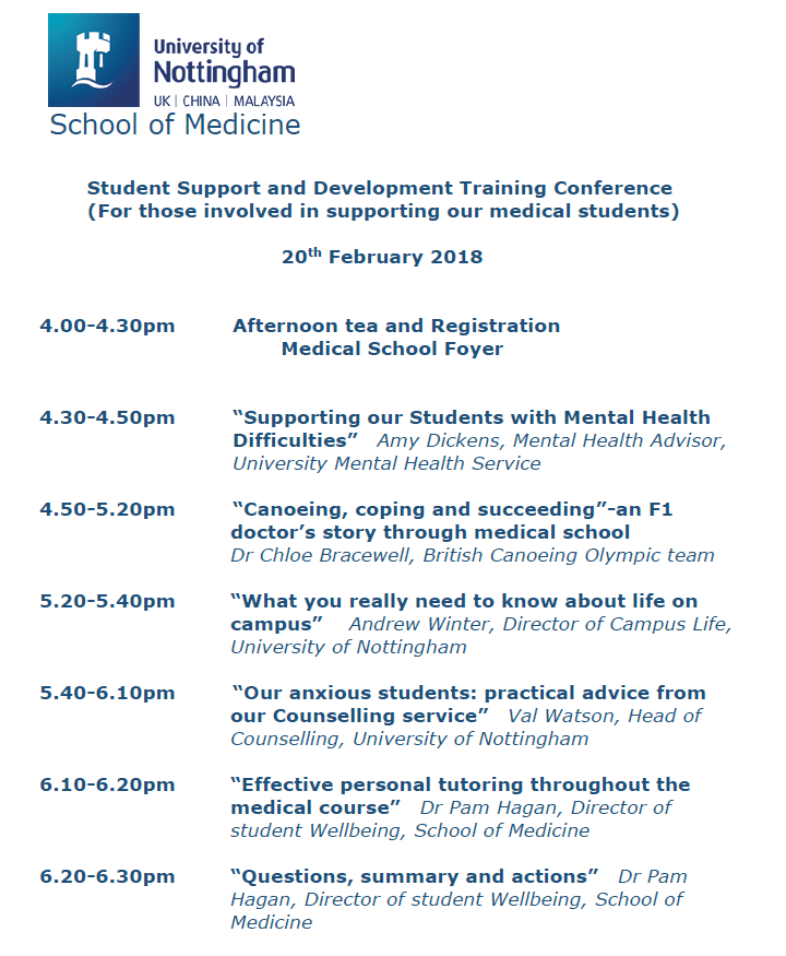 SoM Training Conference Programme