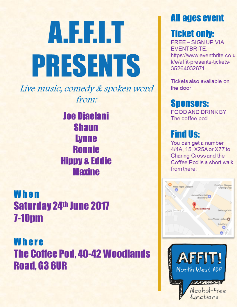 Affit poster for event on 24th June