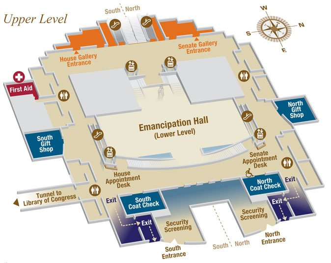 Map of Capitol Visitor Center