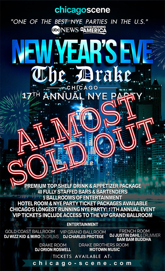 Drake Hotel Chicago NYE Party - Almost Sold out