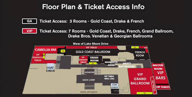 Drake  Hotel NYE Floor Plan