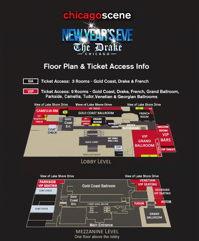 New Years Eve Party Chicago The Drake Hotel Floor Plan