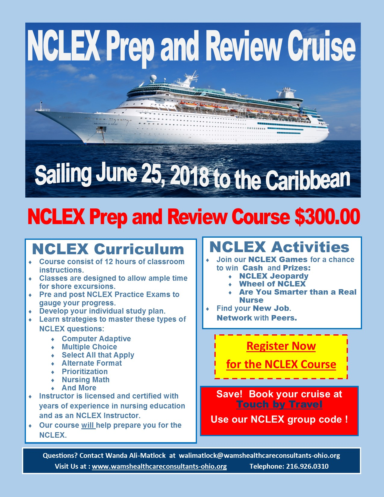 NCLEX Prep and Review Cruise June 2018 Touch by Travel