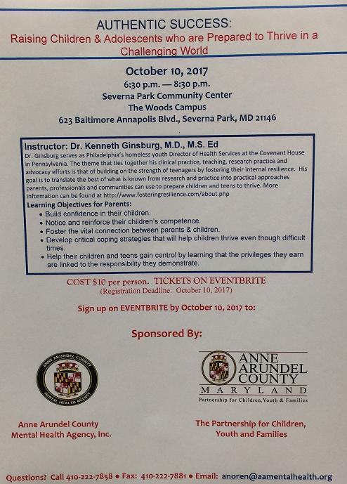 Dr. G Parent flyer