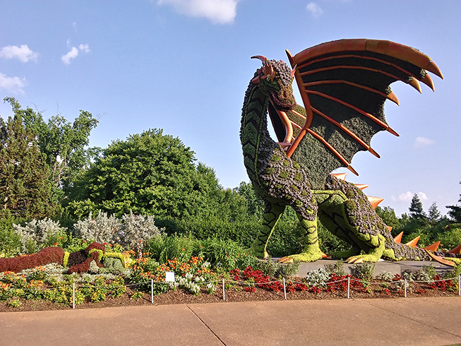Dragon at Atlanta Botanical Garden Imaginary Worlds