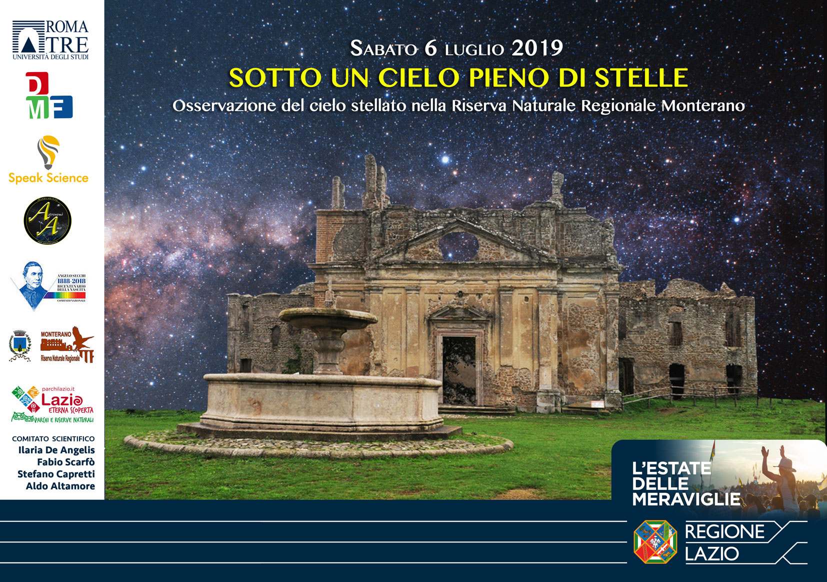 Sotto un cielo pieno di stelle 2019 - Canale Monterano