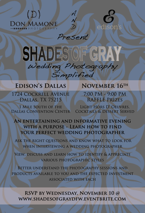 Shades of Gray - Wedding Photography Simplified