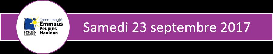 bandeau violet indiquant la date du samedi 23 septembre