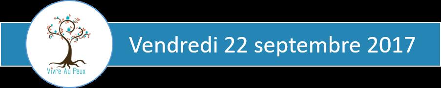 bandeau bleu indiquant la date du vendredi 22 septembre