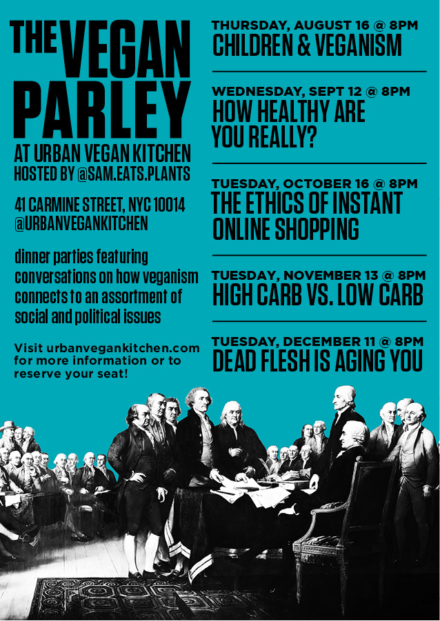 The Vegan Parley. August – December Dates