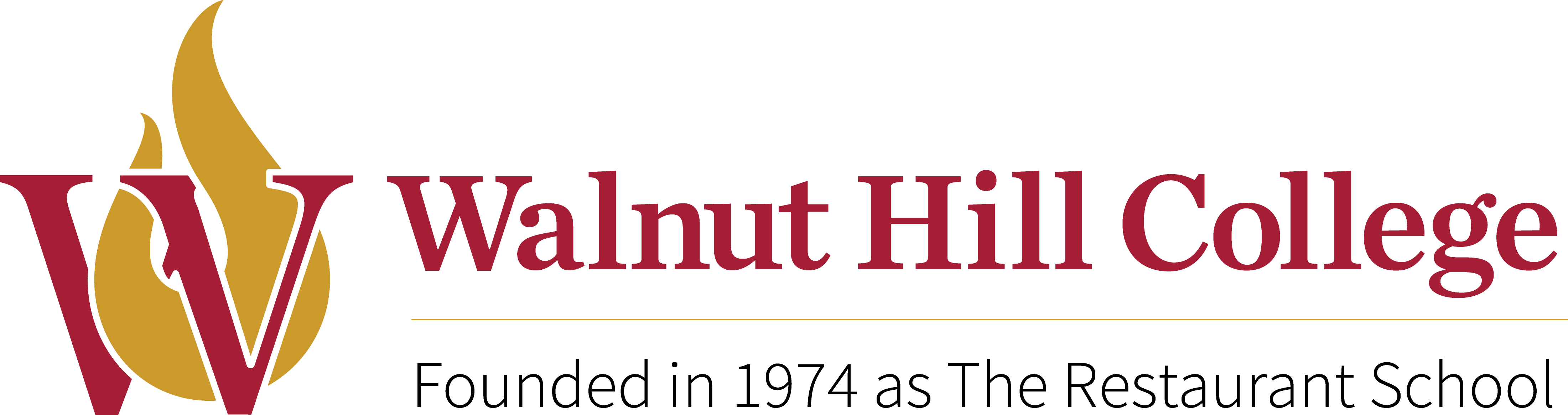 Walnut Hill College logo with website link