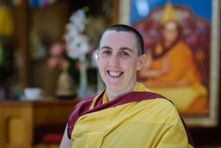 Gen Kelsang Chitta, the speaker at the book talk