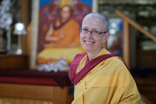 Kelsang Dema, the speaker at the book talk