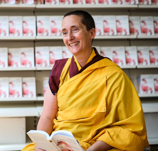 Gen Kelsang Lekma, the speaker at the book talk