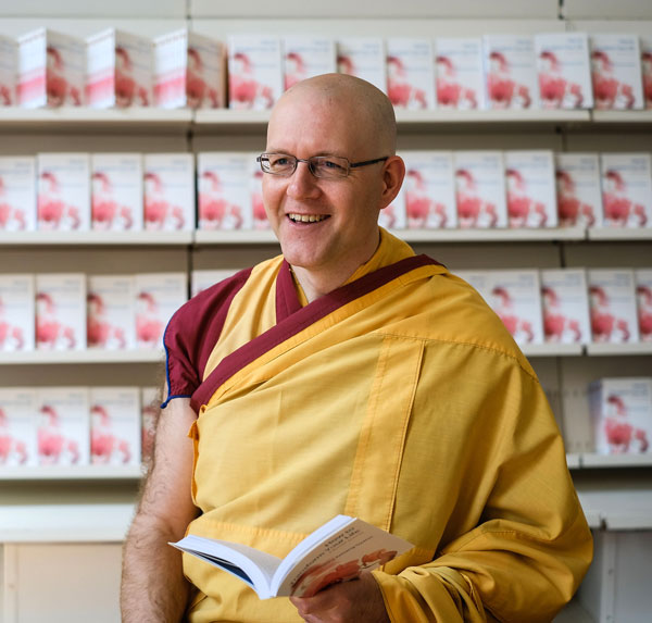 The speaker at the event, Kelsang Kechog