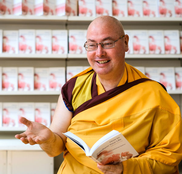 Gen Kelsang Pagpa, the speaker at the book talk