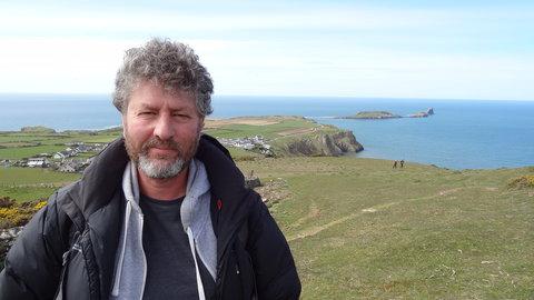 Kadam Mike Garside, teacher at the talk at Waterstones Swansea