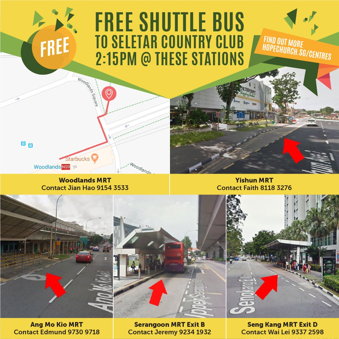Common Ground Shuttle Bus Timings