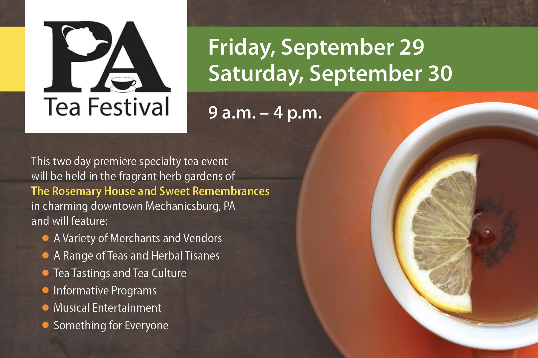 PA Tea Festival Postcard