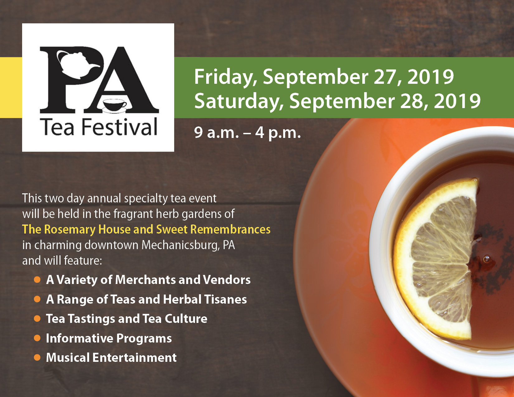 graphic of teacup and tea festival