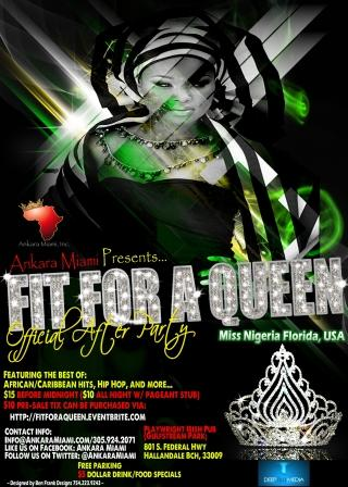 Fit for a Queen: The Official After Party for the Miss Nigeria Florida Cultural Pageant 2012
