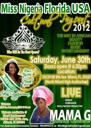 Miss Nigeria Florida Cultural Pageant 2012