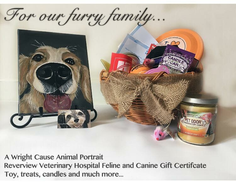 Four legged friend basket at the Rescuing Hope Gala Live Auction.