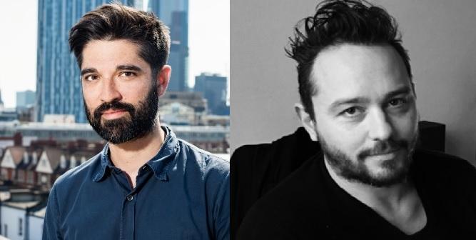 Pulse's James Sorton [left] and Standard Films' Julien Pasquier.
