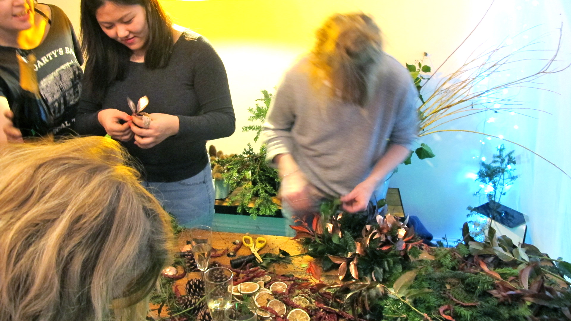 Christmas 2016, christmas wreath making