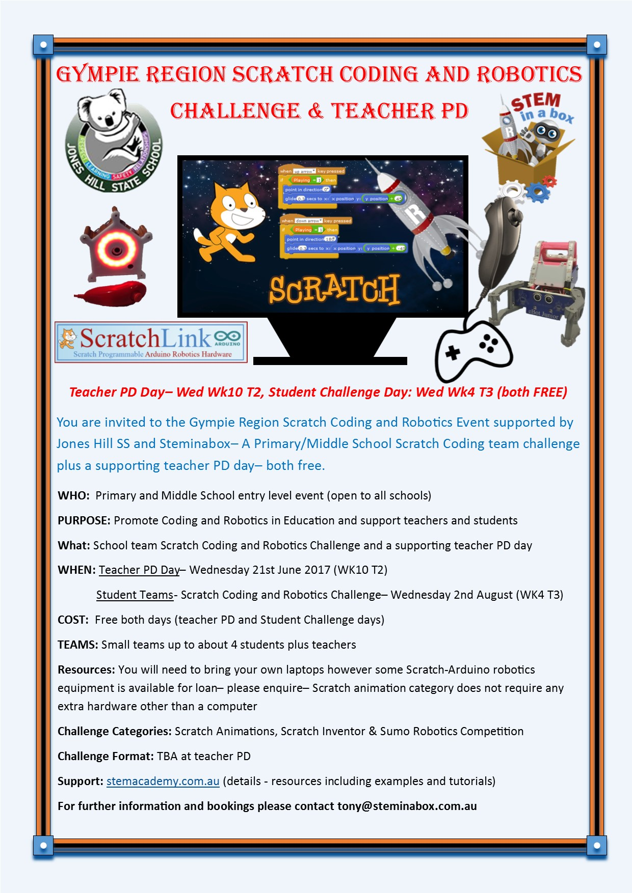 Gympie Scratch Coding & Robotics Challenge