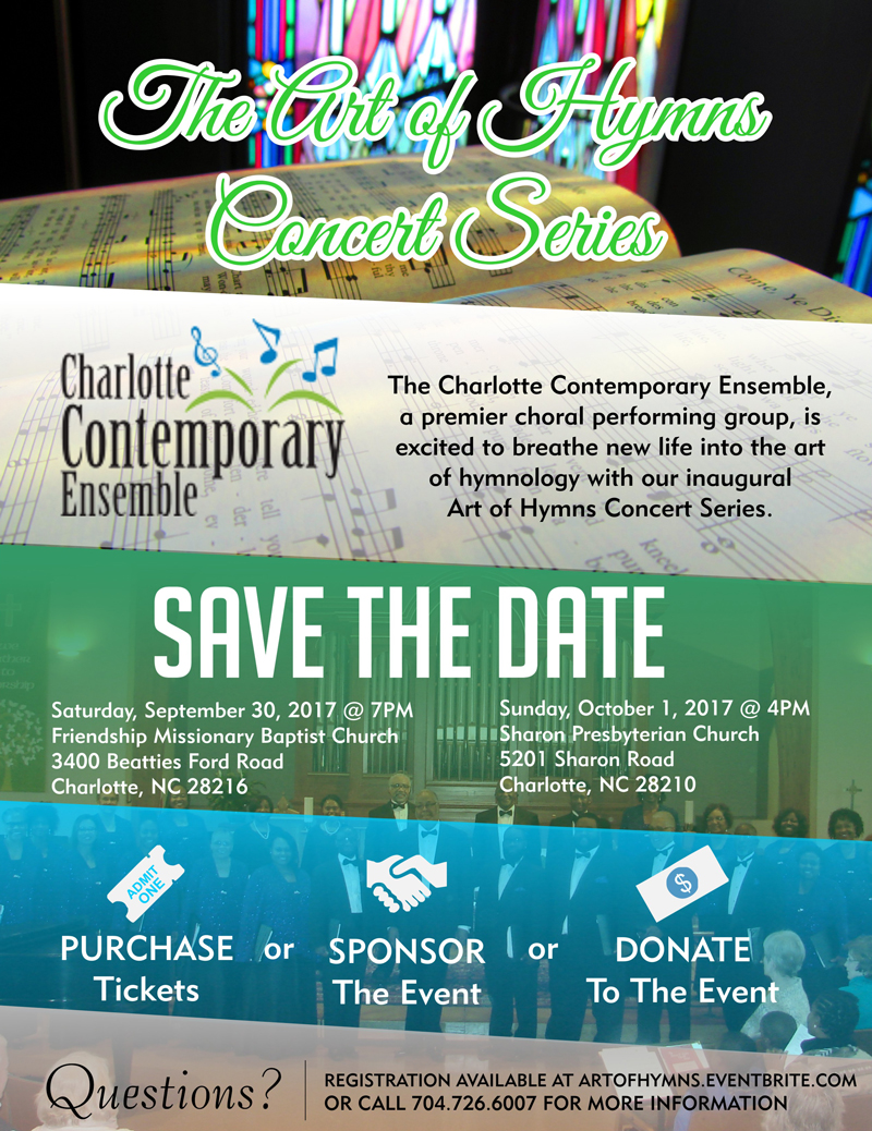 The Art of Hymns Concert Series Tickets Multiple Dates – Contemporary Flyer