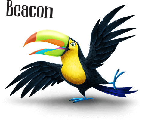 Shipwrecked VBS character Beacon the Toucan
