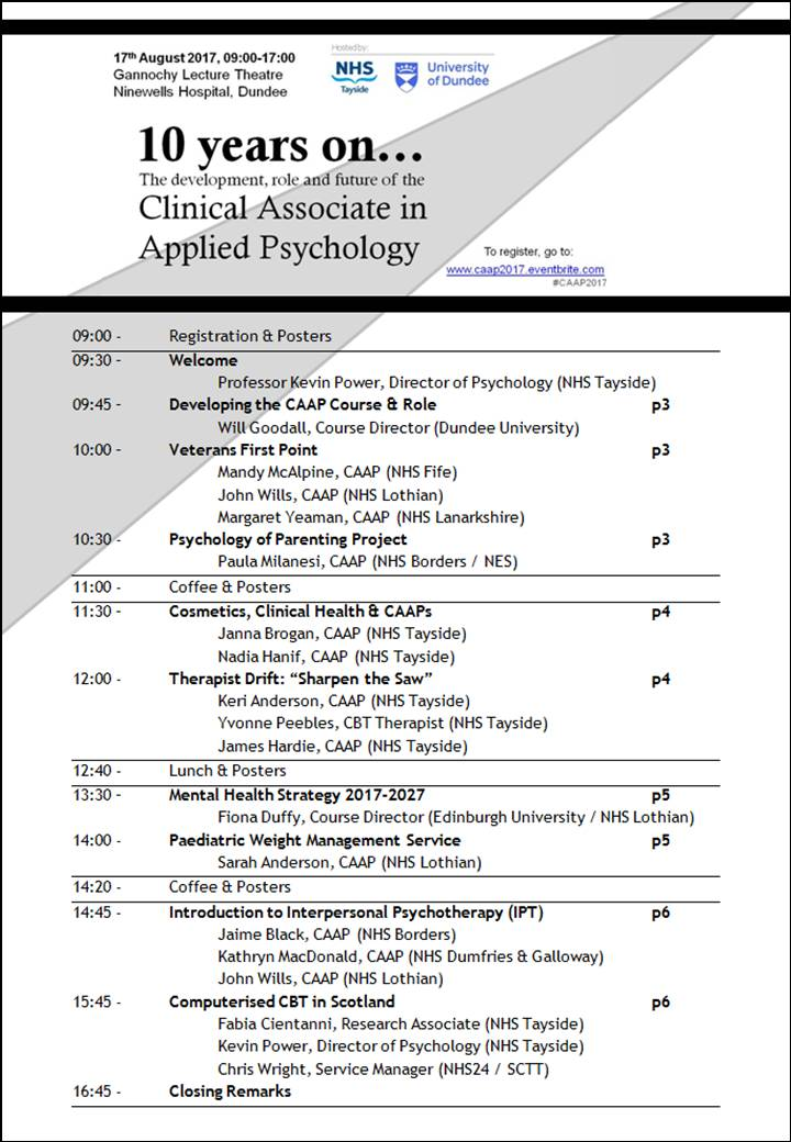 CAAP 2017 Conference Programme