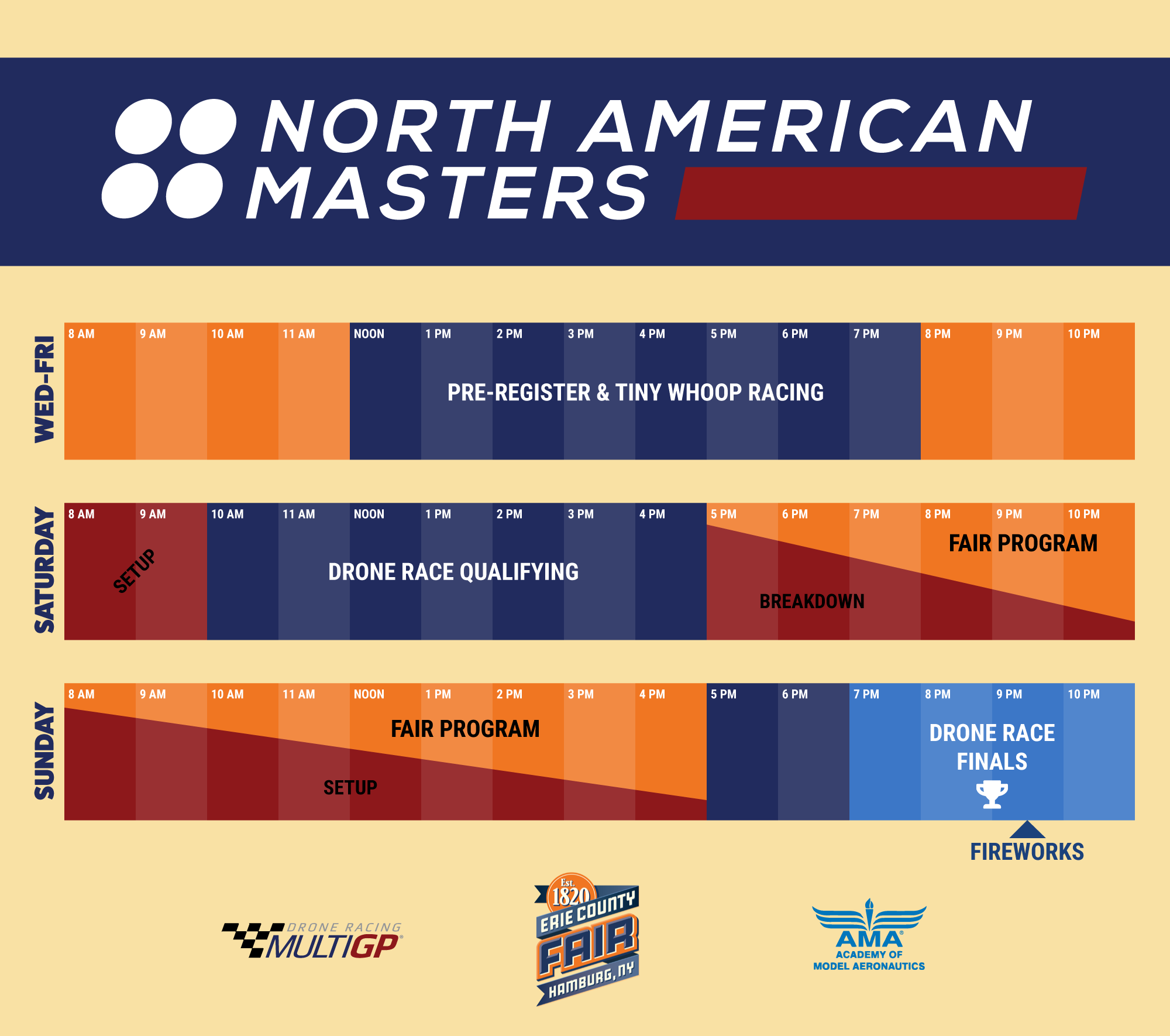 Drone Masters Schedule