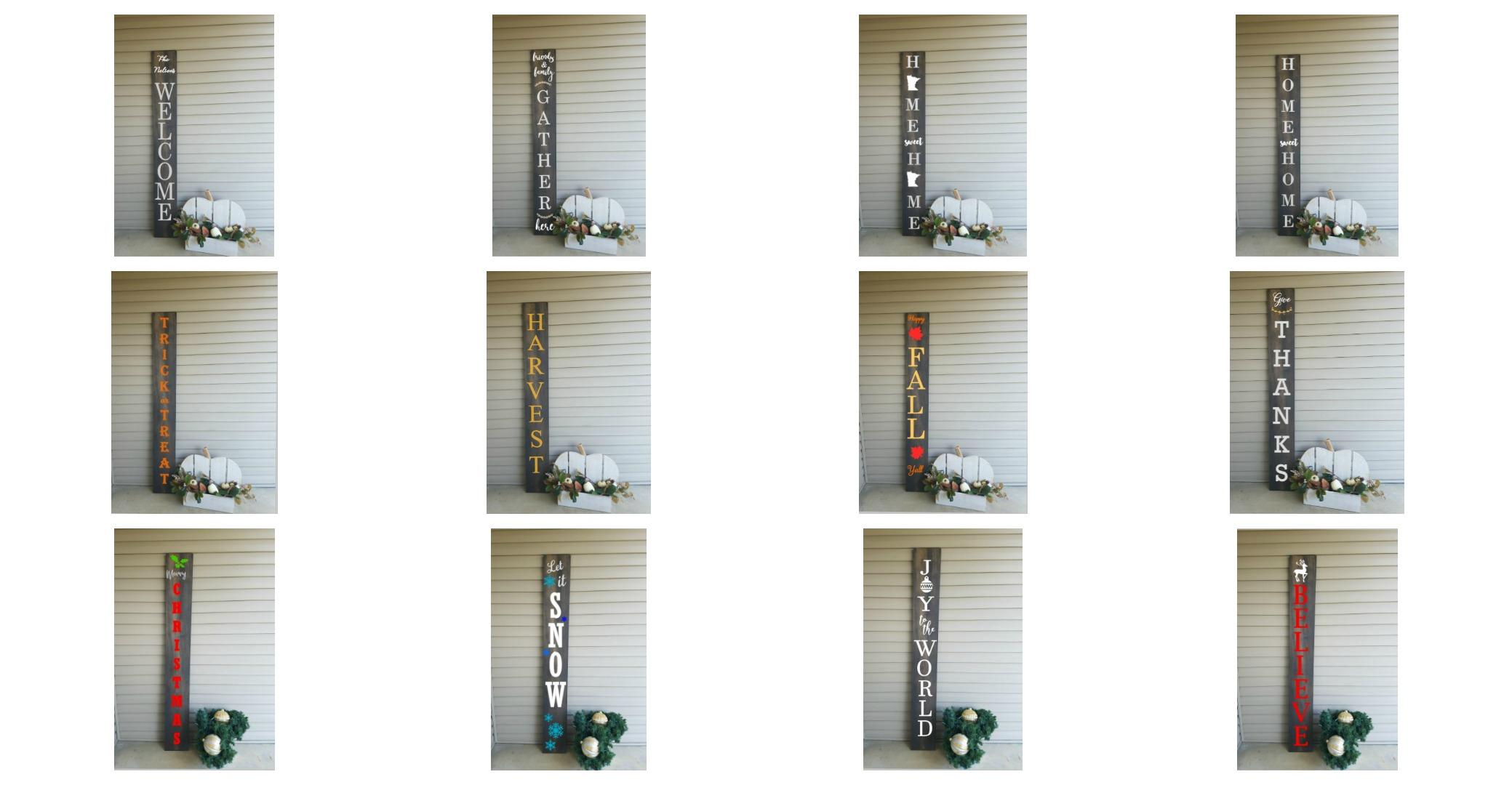 Porch Sign Choices