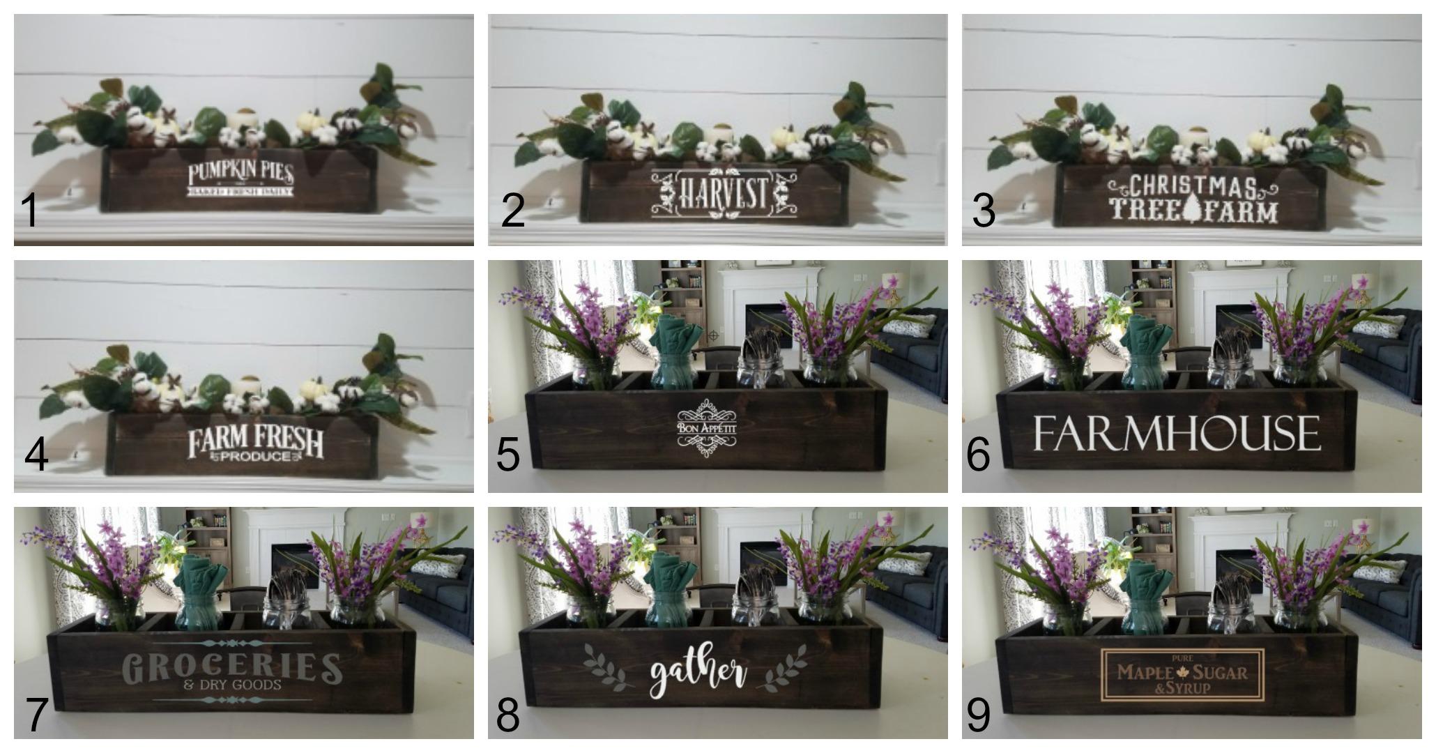 Wood Box Design Choices