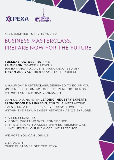 PEXA October Invite