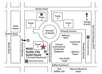 NUSS Guild House Suntec Map