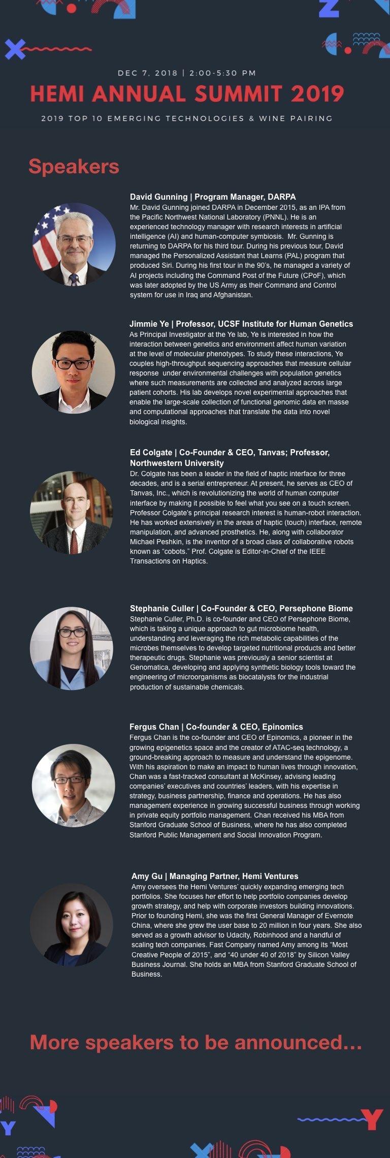 Hemi Summit 2019 Speakers