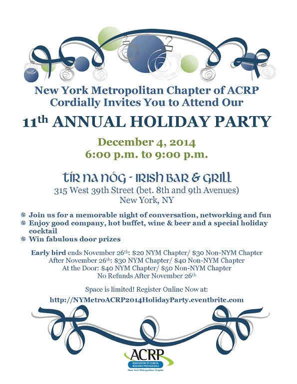 NY Metro 11th Holiday Networking Party Dec 4 2014