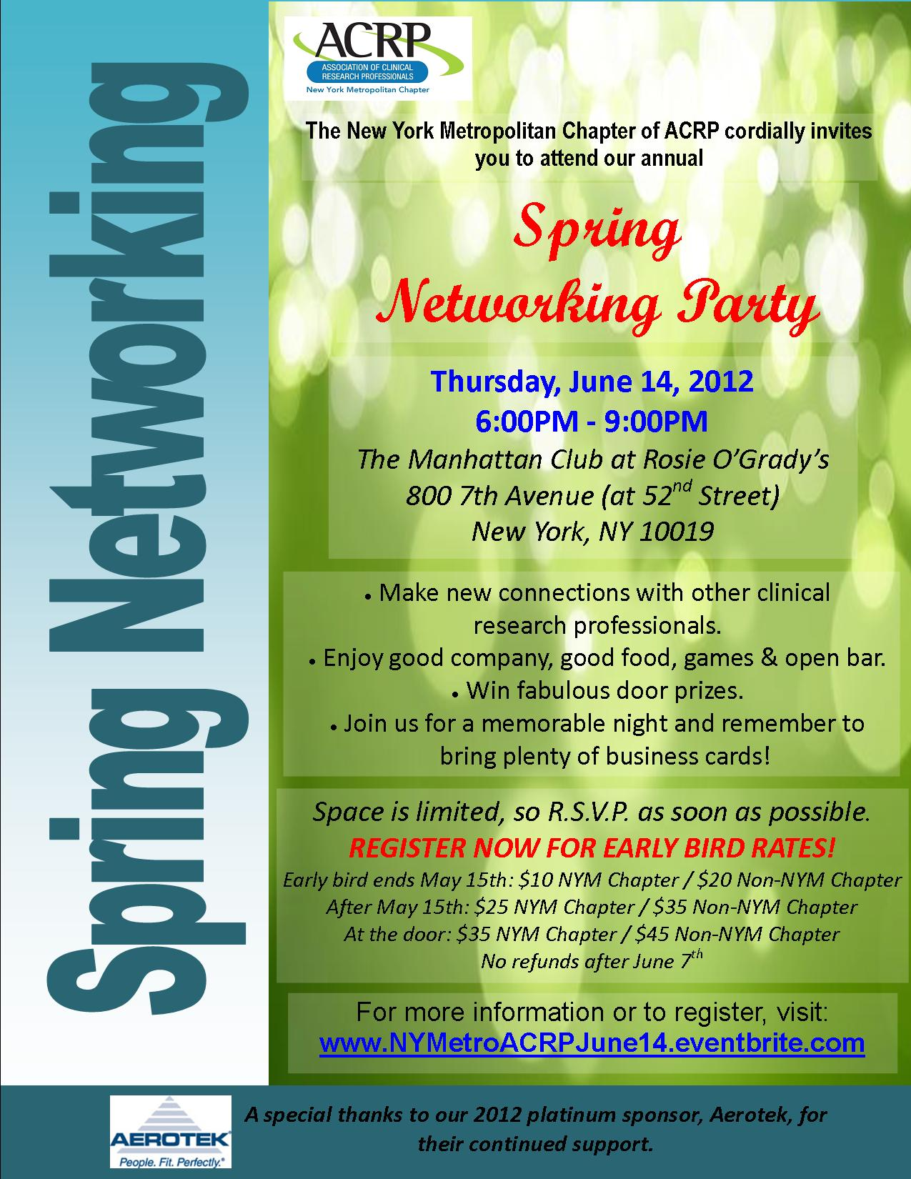 NY Metro Spring Networking