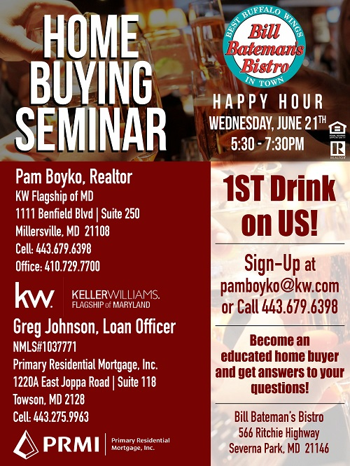 Happy Hour Home Buying Flyer
