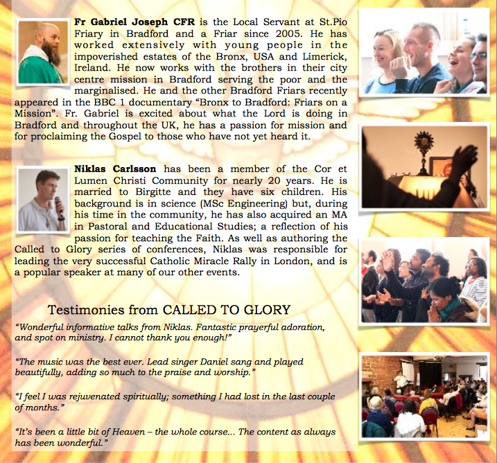 CtG speaker blurbs and testimonies