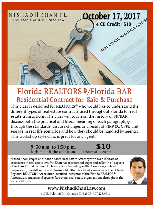 10.17.17 Contract for Sale & Purchase Flyer