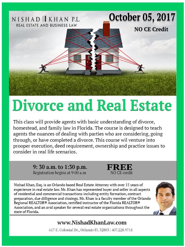 Divorce & Real Estate