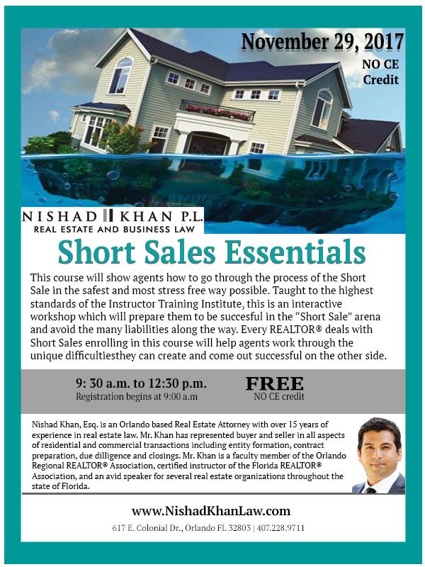 11.29.17 Short Sales Essentials Flyer
