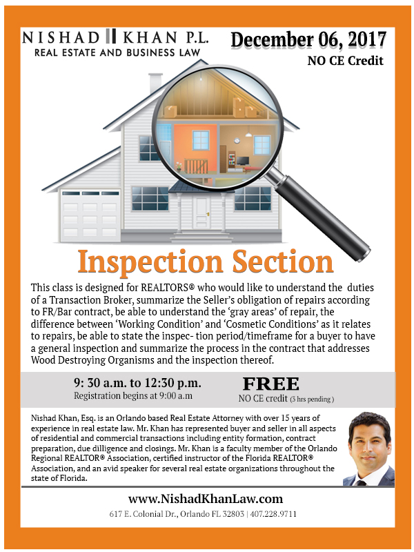Inspection Section Flyer