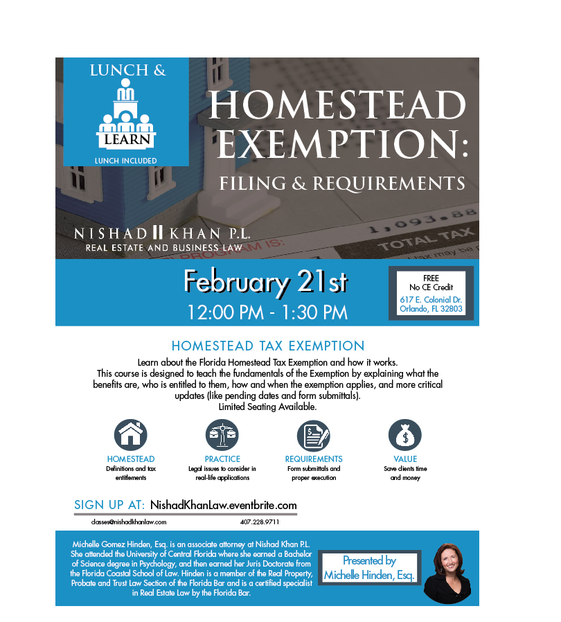 Homestead Exemption Course 2.21.18