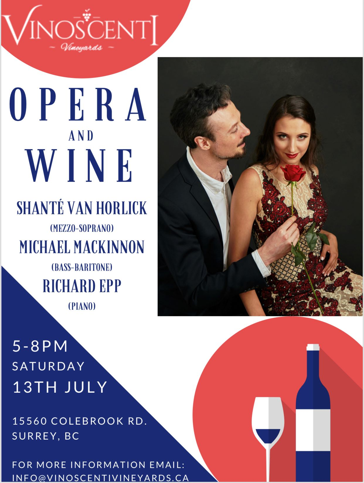 July 13 2019 Opera Evening in the Vineyards